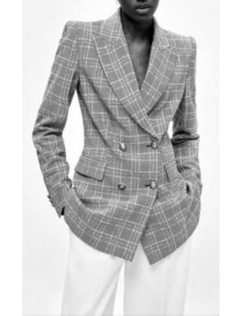 Zara Double Breast Checked Blazer / Jacket Jacket Size Small by Ebay Seller