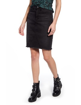 Sherry Raw Hem Denim Skirt by Articles Of Society