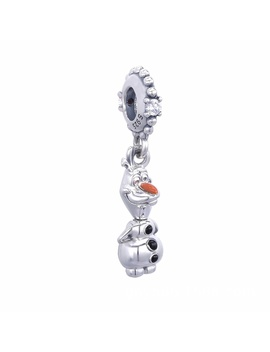 925 Sterling Silver Charm With Cubic Zirconia For Winter Christmas   Snowman by Wish