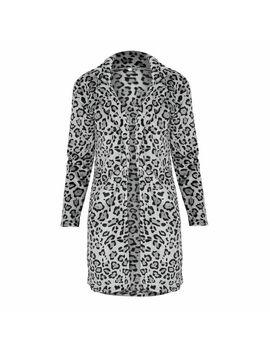 Fashion Women Leopard Winter Warm Faux Fur Coat Cardigan Outwear Coat Jacket by Canis