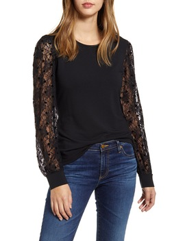 Mix Lace Top by Rachel Parcell