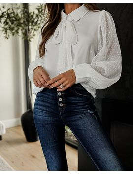 Best Of Both Worlds Statement Blouse by Vici