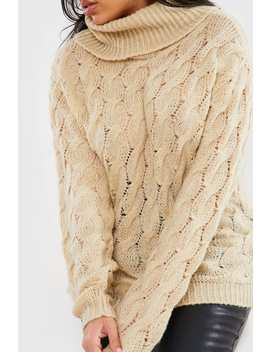 Curve Lorna Luxe Camel 'lafayette' Knit Jumper by In The Style