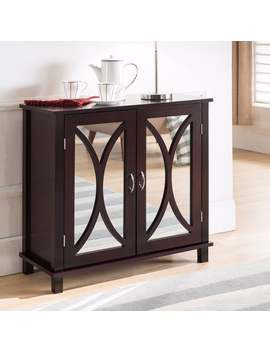 K And B Furniture Co Inc Espresso Wood Door Console Table by K And B Furniture Co Inc