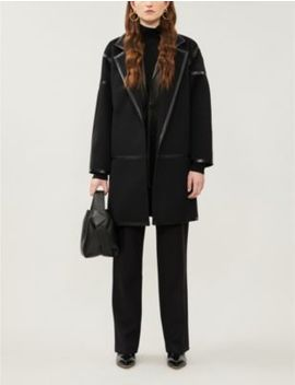 Nizza Notch Lapels Wool Cashmere Blend Coat by Max Mara