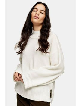 Ivory Central Seam Knitted Sweater by Topshop