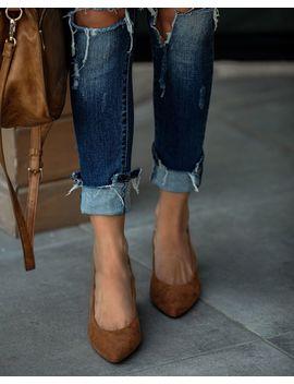 Seniority Faux Suede Slingback Heels by Vici