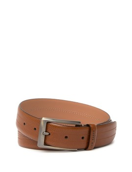 Aggra Stitched Leather Belt by Ted Baker London