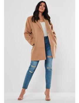 Plus Size Camel Formal Coat by Missguided