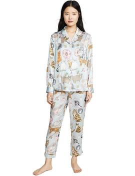 Cat Person Pajama Set by Karen Mabon