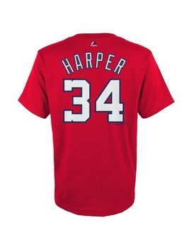 Boys 4 18 Washington Nationals Bryce Harper Player Name And Number Tee by Majestic