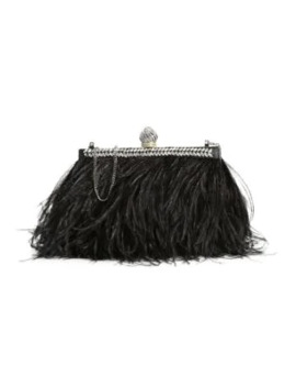 Celeste Ostrich Feather Satin Clutch by Jimmy Choo