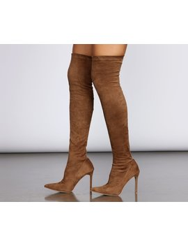 Thigh High Stiletto Boots by Windsor