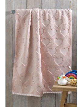 Pink Heart Towels by Next