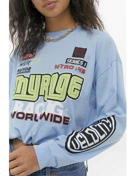 """Urban Outfitters– Langärmliges T Shirt """"Myrage"""" Mit Gerafftem Saum. by Urban Outfitters Shoppen"""