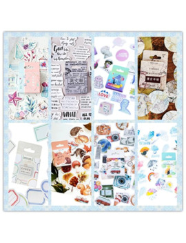 46pcs/Pack Planner Scrapbooking Bullet Journal Stationery Japanese Diary Aesthetic Korean Travel Stickers Eight Selections by Ali Express.Com