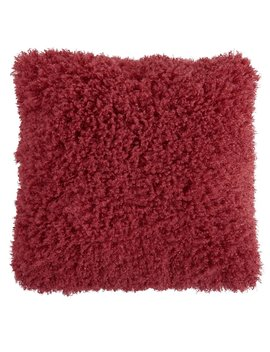 Wilko Red Faux Mongolian Cushion 43 X 43cm Wilko Red Faux Mongolian Cushion 43 X 43cm by Wilko