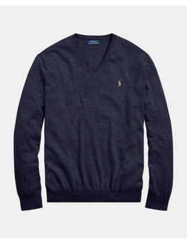 Slim Fit Cotton V Neck Sweater by Ralph Lauren