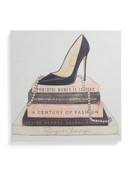 20x20 Classic Stiletto And High Fashion Books Wall Art by Tj Maxx