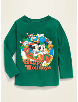 """Disney© Mickey & Friends """"Happy Holidays"""" Tee For Toddler Boys by Old Navy"""