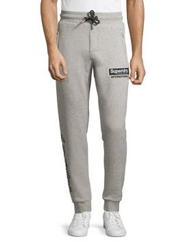 Logo Cotton Jogger Pants by Superdry
