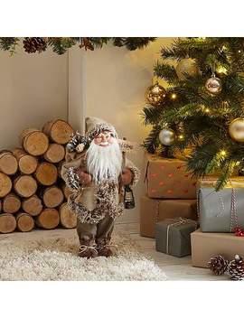 Standing Santa  Beige by Dunelm