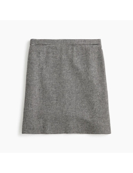 Petite Wool Mini Skirt In Houndstooth by J.Crew