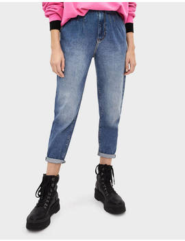 Slim Balloon Fit Jeans by Bershka