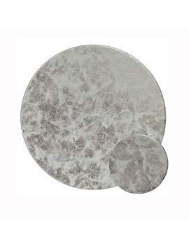 Round Silver Set Of 4 Placemats And Coasters by Dunelm