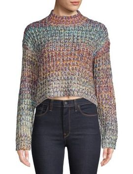 Marled Space Dye Sweater by Design Lab