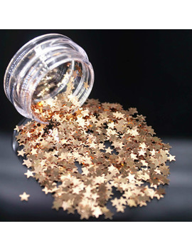 Lolede Darkgoldenrod Color Sequins Nail Art Glitter Flakes Uv Gel Polish Star Heart Flower Paillette Decor Tools Stars by Ali Express.Com