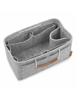 Felt Purse Insert Handbag Organizer Bag In Bag Organizer With Handles by Generic