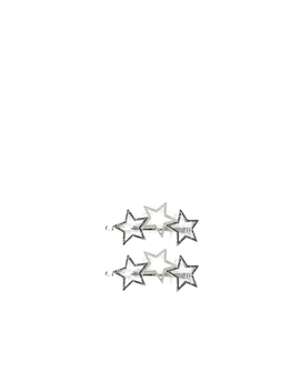 Star 2 Pk Hair Grips by Oasis