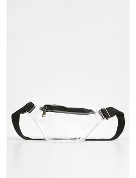 Halle Clear Waist Bag   Clear & Black by Superbalist