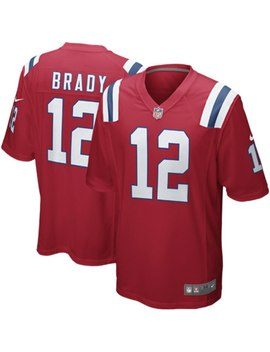 Mens New England Patriots Tom Brady Nike Red Alternate Game Jersey by Nfl