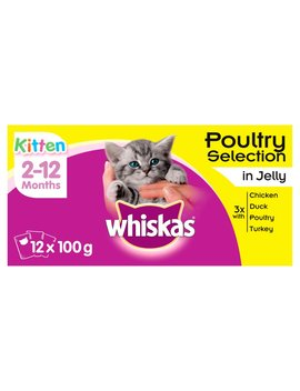Whiskas Poultry Selection Kitten Food In Jelly 12 X 100g Whiskas Poultry Selection Kitten Food In Jelly 12 X 100g by Wilko