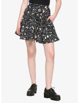 Pusheen Black &Amp; White Snacks Skater Skirt by Hot Topic