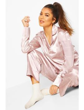 Woman Satin Trouser Pyjama Set by Boohoo