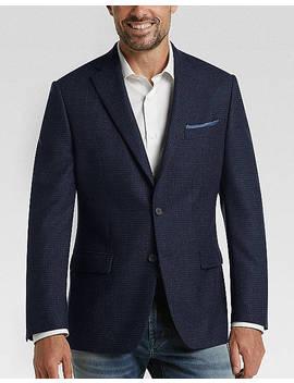 Calvin Klein Navy Check Slim Fit Sport Coat by Calvin Klein