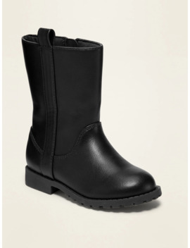 Tall Faux Leather Boots For Toddler Girls by Old Navy