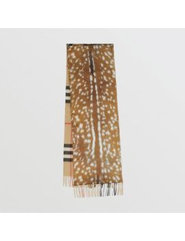Check And Animal Print Cashmere Silk Puffer Scarf by Burberry