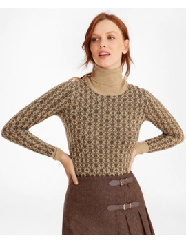 Floral Jacquard Merino Wool Turtleneck Sweater by Brooks Brothers