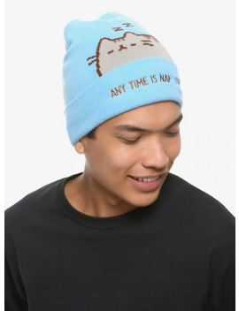 Pusheen Nap Time Watchman Beanie by Hot Topic