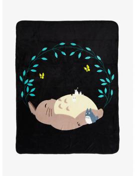 Studio Ghibli My Neighbor Totoro Sleeping Throw Blanket by Hot Topic