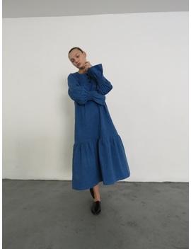 Delfina Balda Yota Dress   Denim by Garmentory