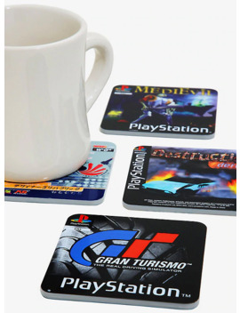 Play Station Reversible Game Coasters by Hot Topic