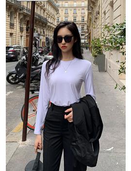 Sidewalk Round Long Sleeve Top by Chuu