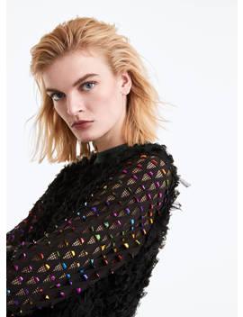 Multicoloured Embellished Sweatshirt by Uterqüe