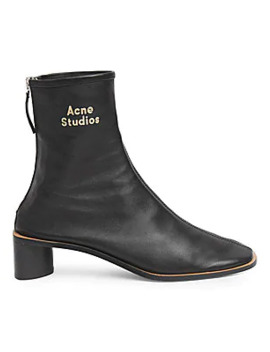 Bertine Leather Booties by Acne Studios