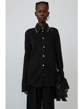 Lurex Knit Shirt Black by Acne Studios